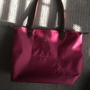 Medium Le Pliage Longchamp Tote in Pink